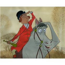 "Original production cel of a fox hunter from ""Mary Poppins"""