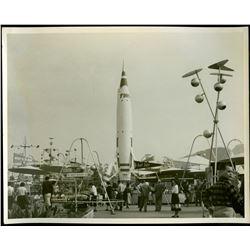 Vintage Original Disneyland TWA Rocket to the Moon Photograph