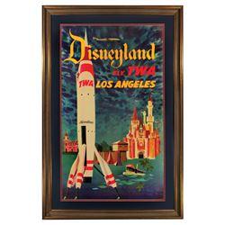 Original TWA Fly Disneyland travel poster.