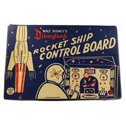 "Disneyland ""Rocket Ship Control board"" toy in box."
