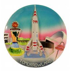 3-D Tomorrowland decorative wall plate.
