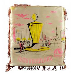 Tomorrowland souvenir silk tassel pillow.