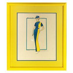 Original John Hench costume design for the Autopia attraction.