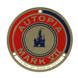"Autopia  ""Mark VII"" car badge."