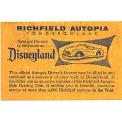 Unused Autopia  driver's license.