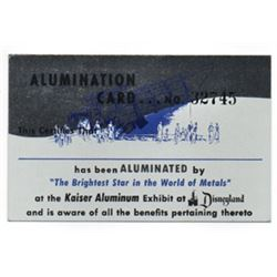 "Kaiser's The Story of Aluminum  ""Alumination"" certificate."