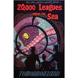 Original 20,000 Leagues Under the Sea  attraction poster.