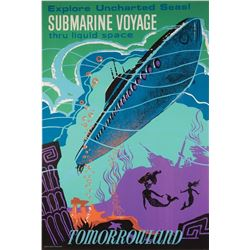 Original Submarine Voyage  attraction poster.