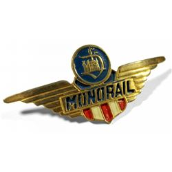 Original Monorail pilot's hat badge.