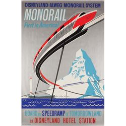 Original Monorail  attraction poster.