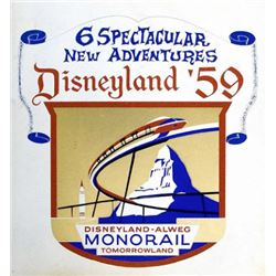 Original Monorail  attraction lamppost shield.