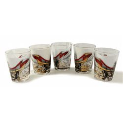 Alweg Monorail  promotional drinking glasses.