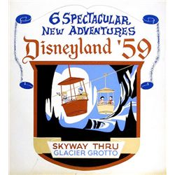 Original Skyway  attraction lamppost shield.