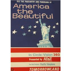 Original America The Beautiful attraction poster.