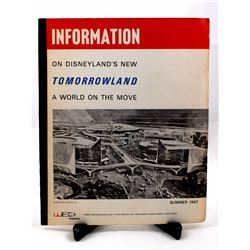Disneyland's New Tomorrowland—A World on the Move  1967 press kit.