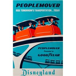 Original Peoplemover  attraction poster.
