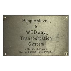 Wedway Proplemover  station patent plaque.