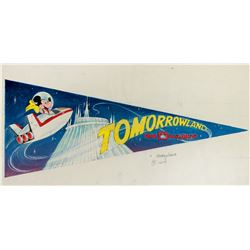 "Original ""Mickey Mouse"" Tomorrowland pennant artwork."