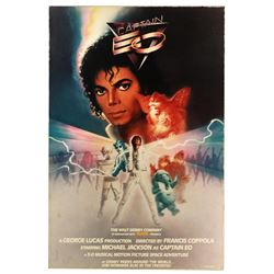 Original Captain EO attraction poster.