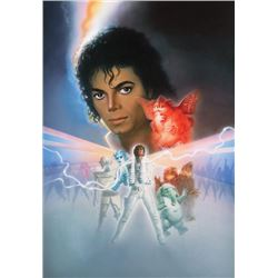 . H.R. Russell original artwork for the Captain EO attraction poster.