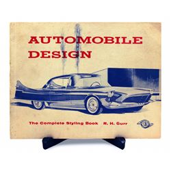 Bob Gurr signed automobile design book.