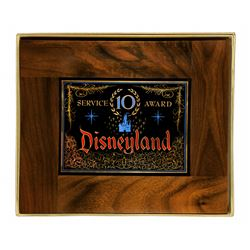 Disneyland Tencennial 1965 TEN YEAR SERVICE AWARD Plaque.