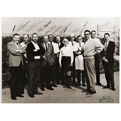 Signed WED photo featuring (12) Imagineers.