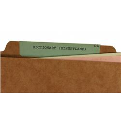 Rare WED Disneyland Dictionary file copy.