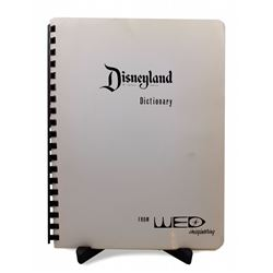 WED Disneyland Dictionary cast member booklet.
