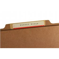 WED Enterprises 1971-1973 internal research folder
