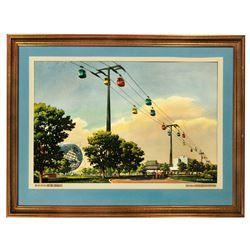 New York World's Fair Swis Sky Ride concept artwork by John Wenrich.