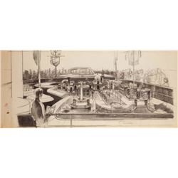 Herb Ryman Magic Skyway original concept art.