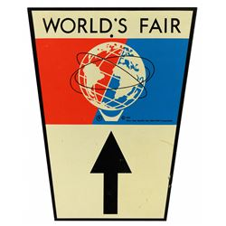 New York World's Fair Unisphere Freeway directional sign.