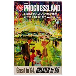 Progressland Pavillion Carousel of Progress promotional poster.