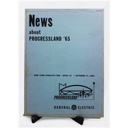 News About Progressland new york world's fair press kit.
