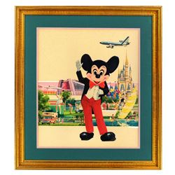 Original Tom Gilleon Eastern Airlines Walt Disney World / Eastern Airlines Poster Artwork.