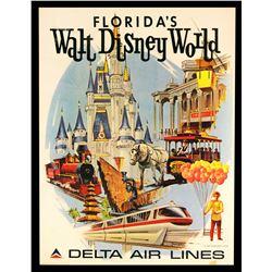 Delta Airlines Walt Disney World travel poster.