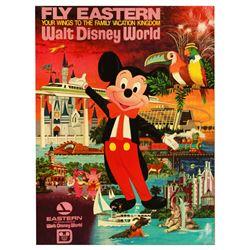 Eastern Airlines Walt Disney World travel poster.