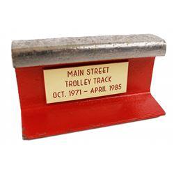 Walt Disney World Main Street Trolley track prop.