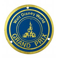 Walt Disney World Grand Prix Autopia Car Badge.