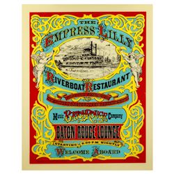 Empress Lilly Riverboat Restaurant entrance sign.