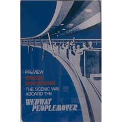 Original Walt Disney World WEDWAY Peoplemover Attraction Poster.