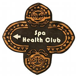 Polynesian Village Resort - Spa Health Club Directional Sign.