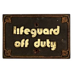 Polynesian Village Resort - Lifeguard Off Duty Sign.