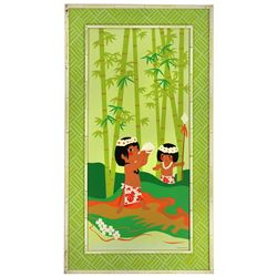 Polynesian Village Resort - Silkscreened guest room decor.