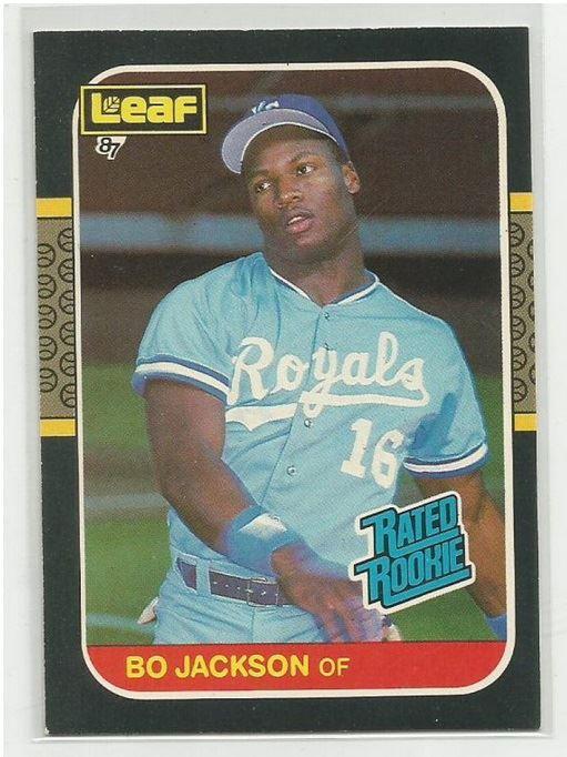 Hard To Find 1987 Donruss Leaf Bo Jackson Rookie Card 35