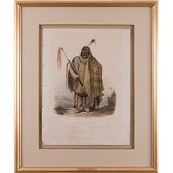 Karl Bodmer, aquatint engraving with hand coloring