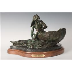 Dave Powell, bronze and illustrated letter