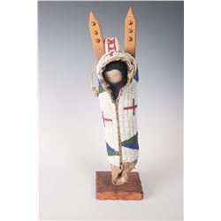 "Sioux Doll Cradle, 13"" tall."