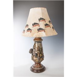 Ronald Lowery, bronze lamp